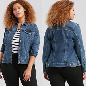 NWT Levis Plus Size Original Trucker Denim Jacket